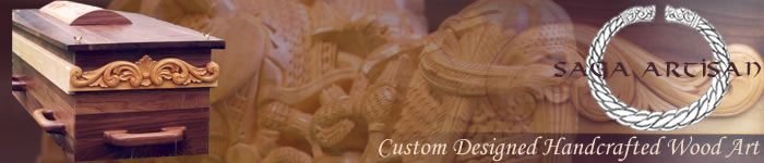 Saga Artisan: Custom Designed Handcrafted Wood Art Banner